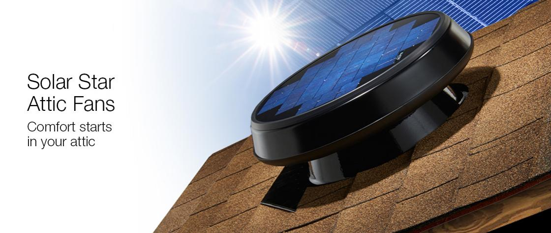 Solar Star Solar-Powered Attic Fan