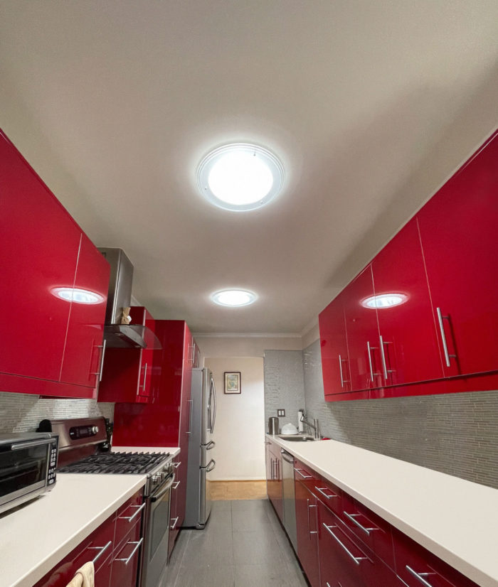 Famous Red Kitchen by Solatube